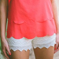 Lace Shorts - Bottoms