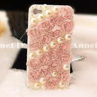 pearl iPhone cover flower iPhone 5 case iPhone 5 cover by AnneDIY