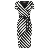Buy Phase Eight Coco Striped Dress, Black/Ivory online at John Lewis