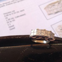 Have You Seen the Ring?: TCW 1.5cts Princess Cut Engagement Ring