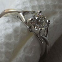 Have You Seen the Ring?: New in Box - 0.57ct Round Diamond Engagement Ring