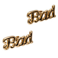 *Accessories Boutique The Bad Earrings in Gold : Karmaloop.com - Global Concrete Culture