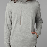 LAB:CO by B:SCOTT Asymmetrical Mock Zip Sweatshirt