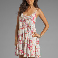 Free People Pintuck Gauze Dress in Ivory Combo from REVOLVEclothing.com