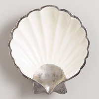 Metal and Enamel Shell Bowl