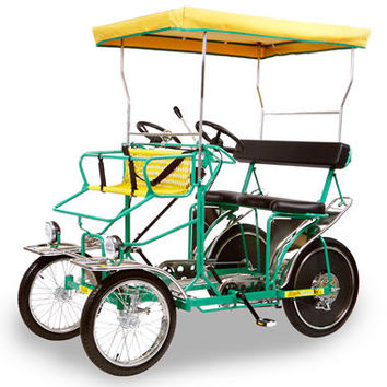 The Five Person Pedal Surrey - Hammacher Schlemmer