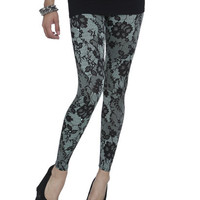 Lace Print Leggings | Shop Active at Wet Seal
