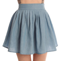 Hearts & Bows Mid Wash Andalusia Skater Skirt