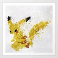 Pikachu Art Print by Melissa Smith