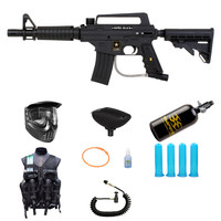 Tippmann US Army Alpha Black eGrip Paintball Gun HPA Advance Vest Pack - Paintball Store WaveToGo