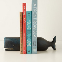Victorian Whale Bookends by Anthropologie Blue One Size Bookends