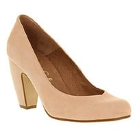 Office BELLE COURT NUDE LEATHER Shoes - Womens Mid Heels Shoes - Office Shoes