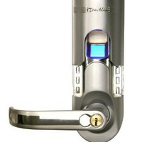 iTouchless Bio-Matic Fingerprint Door Lock For Left Hand Door, Silver