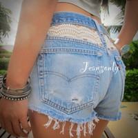 High waist lace shorts by Jeansonly