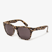F8486 Leopard Print Wayfarer Sunglasses