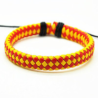 Leather Cotton Ropes Woven Men Leather Jewelry Bangle Cuff Bracelet Women Leather Bracelet  RZ0225