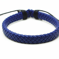 Leather Cotton Ropes Woven Men Leather Jewelry Bangle Cuff Bracelet Women Leather Bracelet  RZ0226