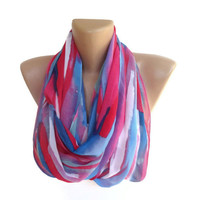 fashion neon women scarf , chiffon trendy scarves , girly , for her , pink blue purple white , colorful trendscarf , ALL TREND COLORS