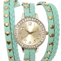 Braided Rhinestone Wrap Watch | Shop Summer Roadtrip at Wet Seal