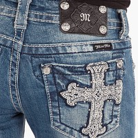 Miss Me Cross Skinny Stretch Jean - Women's Jeans | Buckle
