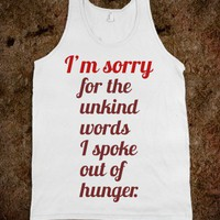 Sorry - Trendy Designs by Sofia - Skreened T-shirts, Organic Shirts, Hoodies, Kids Tees, Baby One-Pieces and Tote Bags