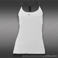 nike womens tennis tank, Nike Strappy Knit Tank 523396-100
