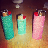 Glitter Bic lighters