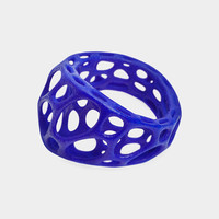 UV Blue Wave Ring