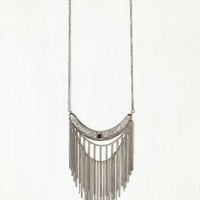 Free People Stone Moon Fringe Collar