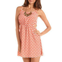 Cutout Chevron Stripe Tank Dress: Charlotte Russe