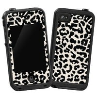 "Black and White Leopard ""Protective Decal Skin"" for LifeProof 4/4S Case: Cell Phones & Accessories"