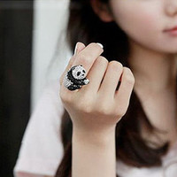 Adorable Adjustable Panda Ring from Just So Cute