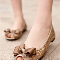 lace Flat  shoes from guipure