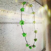 Neon Green Rosette Flower Crown