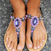 Dancing In The Moonlight Sandals: Purple | Hope's