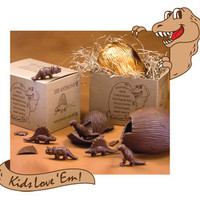 Giant Milk Chocolate Dinosaur Egg with Baby Dinos Gift Box | CandyWarehouse.com Online Candy Store