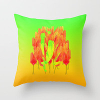 YL visiting Amsterdam Throw Pillow by Gréta Thórsdóttir
