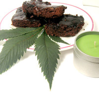 Soy Candle, Special Brownies, Hippie, Pot Brownies, Funny, Marijuana, green, weed, candle
