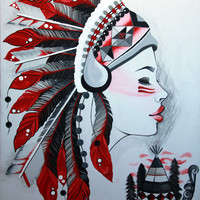 Headdress Painting 30x40