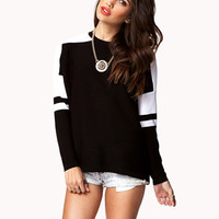 Athletic Striped Sweater | FOREVER 21 - 2076389193