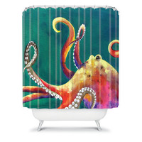 DENY Designs Home Accessories | Clara Nilles Mardi Gras Octopus Shower Curtain
