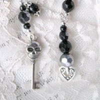 Dia De Los Muertos Necklace goth jewelry gothic by DemimondeArt