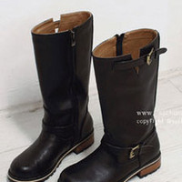 AsiaJam.com Fashion Boutique | Semi High Slitted Engineer Boots