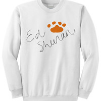 NEW - Ed Sheeran Signature Paw Print Crewneck