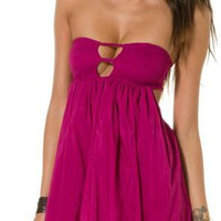 INDAH SUNNY BANDEAU BABYDOLL MINI DRESS | Swell.com