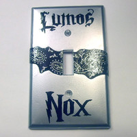 Silver Lumos / Nox Lightswitch Plate Potter Inspired by trophies
