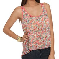 Contrast Detail Tank | Shop Tops at Wet Seal