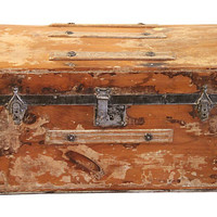 One Kings Lane - A Vintage Marine Mood - 19th-C. American Stage Coach Trunk