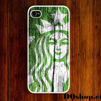 iPhone 5 Case Starbucks  Logo Wood Print   - iPhone 4 Case