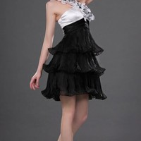 Black A-line Knee-length Halter Dress [1784719] - $91.00 : dressoutletstore.co.uk, Wedding Dresses Outlet